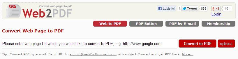 Narzędzie Pdf Convert