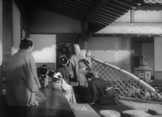 "Kenji Mizoguchi - kadr z filmu ""Chikamatsu Monogatari"""