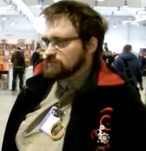Andrzej Pilipiuk podczas konwentu