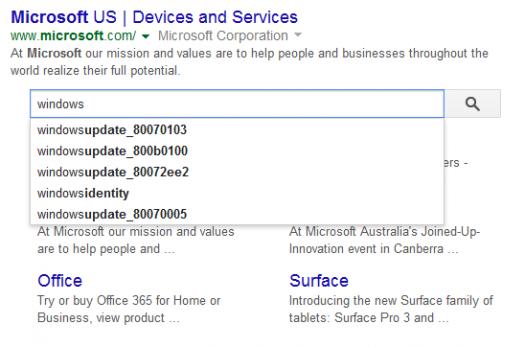 Google search box przed wynikami