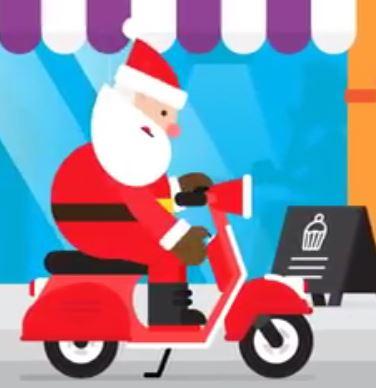 Święty Mikołaj na motorze