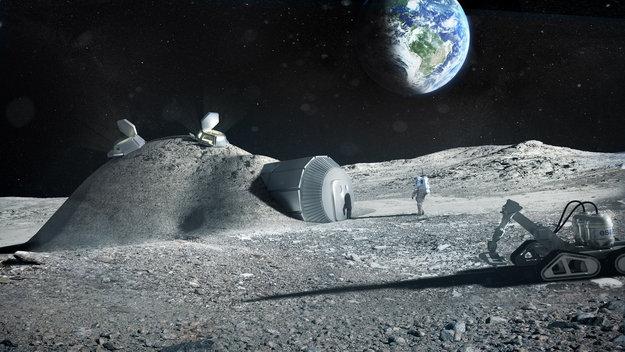 baza księżycowa 3D Printing