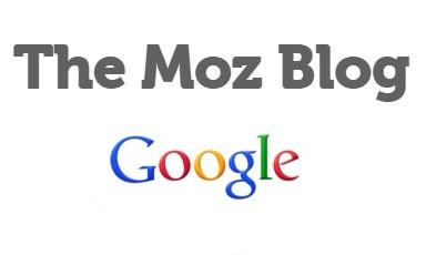 Moz blog i Google logo