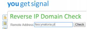 You get signal - narzędzie do sprawdzania IP strony www